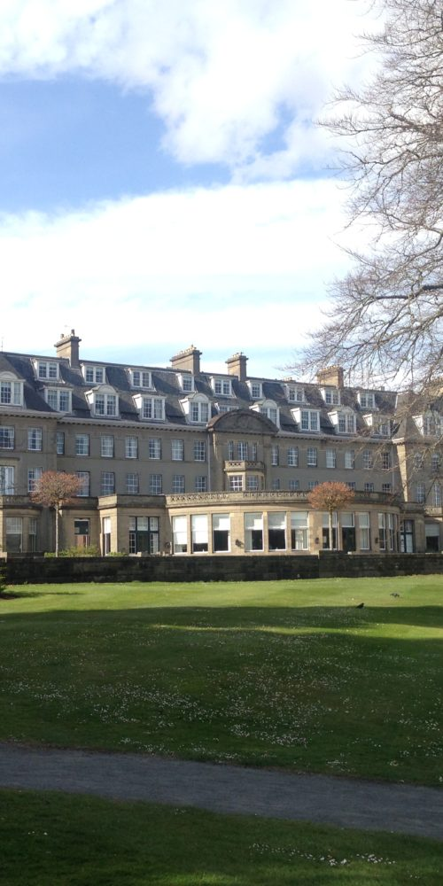 The exterior of the Gleneagles Hotel