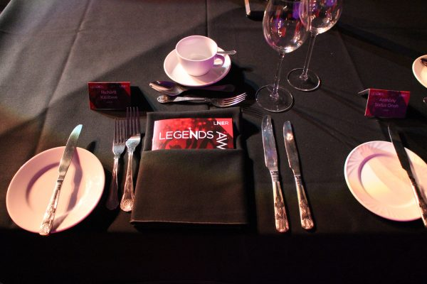 Make Events | Events Company Manchester | Legends Place Setting