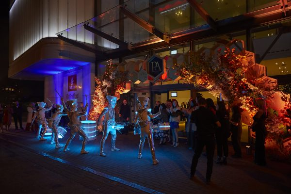 Make Events | Events Company Manchester | Spark Drummers at Entrance