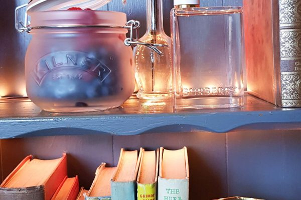 Make Events | Events Company Manchester | Books and Bottles on Shelf