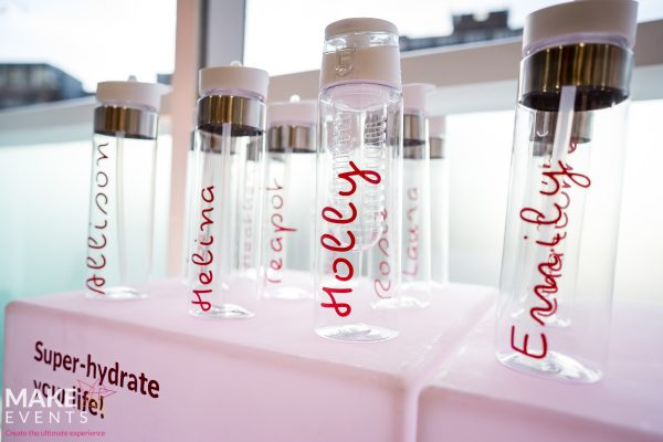 Make Events | Events Company Manchester | Water bottles