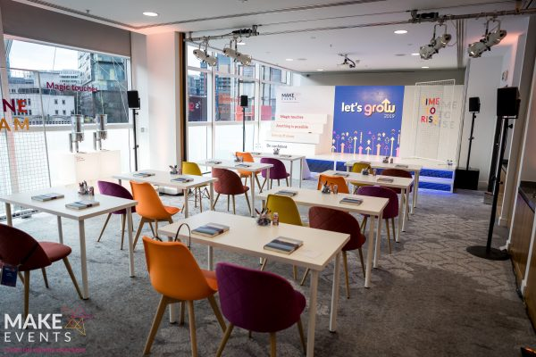 Make Events | Events Company Manchester | Let's Grow chairs