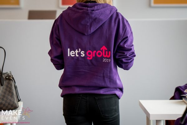 Make Events | Events Company Manchester | Let's Grow sweatshirt