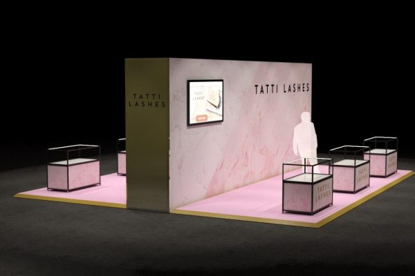 Make Events | Events Company Manchester | Tatti Lashes Retail Stand design