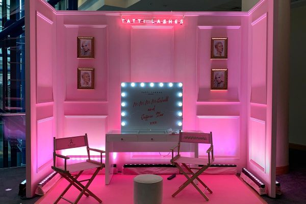 Make Events | Events Company Manchester | Tatti Lashes Photobooth Stand