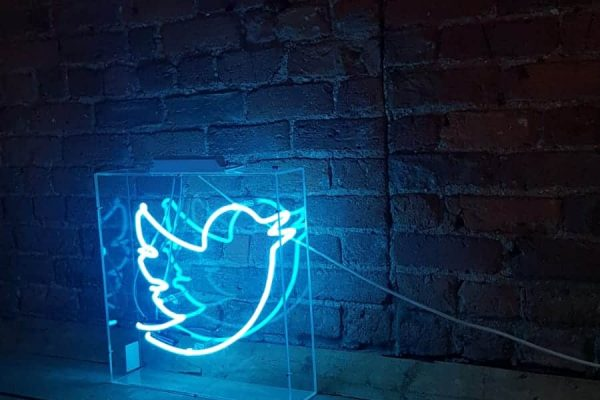 Make Events | Events Company Manchester | Twitter Logo Neon Light