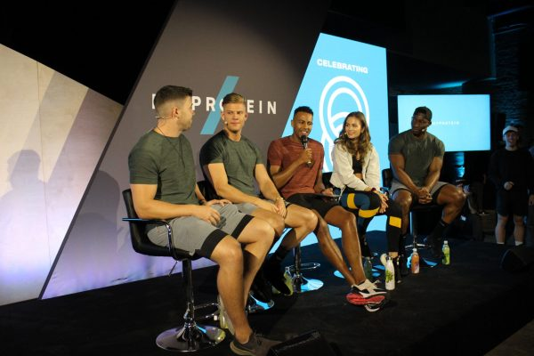 Make Events | Events Company Manchester | My Protein panel on stage