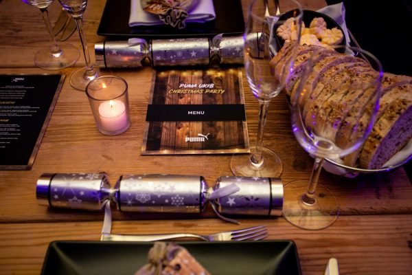 Make Events | Events Company Manchester | Puma menu and place setting