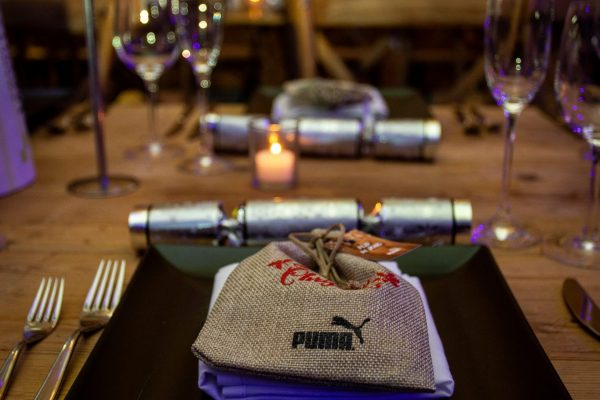 Make Events | Events Company Manchester | Puma place setting