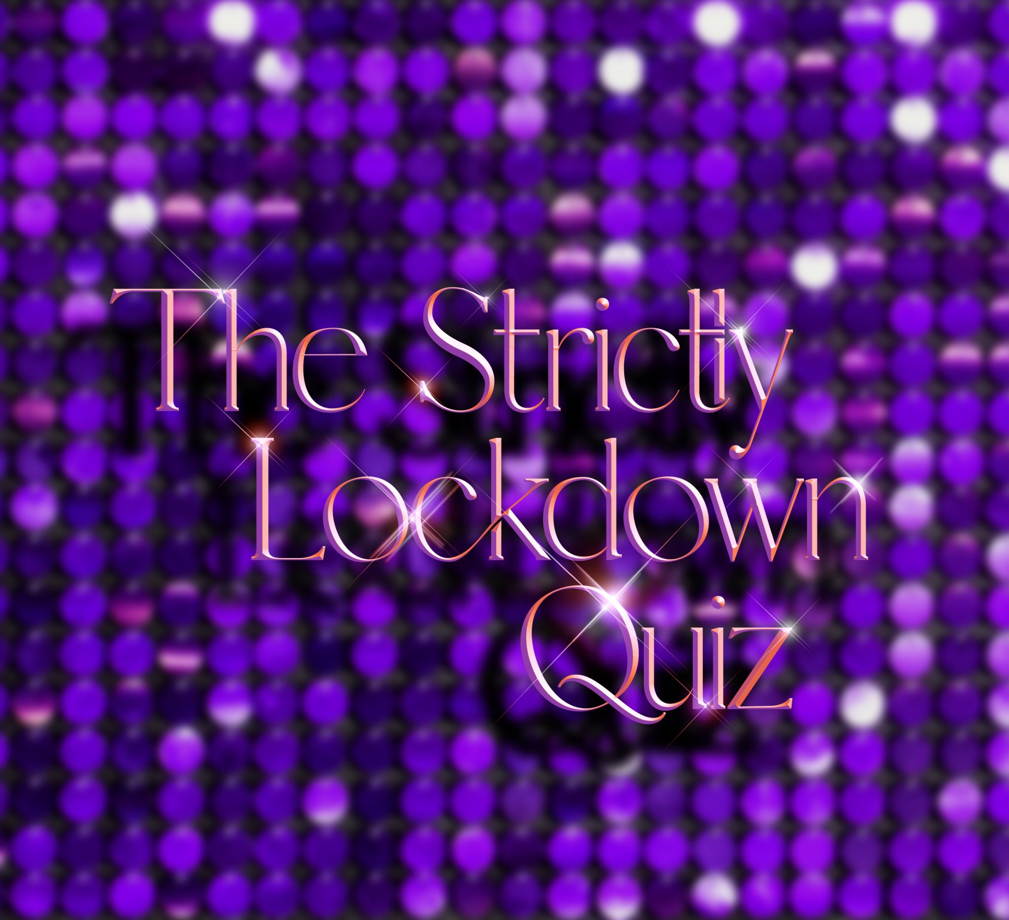Make Events | Corporate and Virtual Events Company Manchester | Strictly Lockdown Quiz purple sequin backdrop