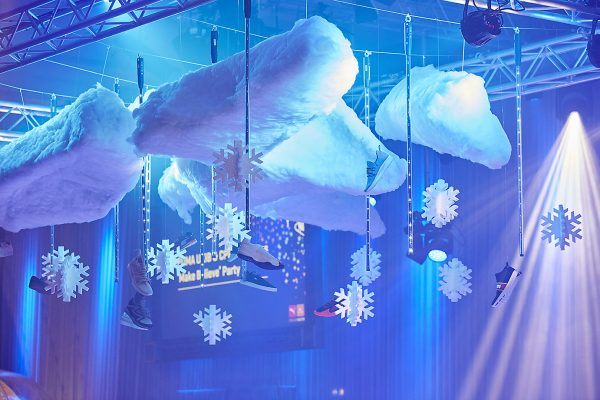 Make Events | Corporate and Virtual Events Company Manchester | Clouds prop