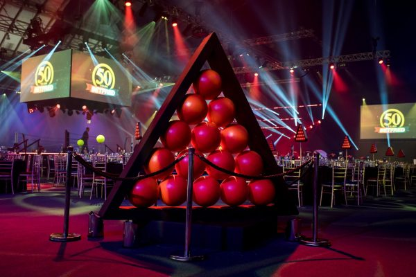 Make Events | Corporate and Virtual Events Company Manchester | Snooker balls prop