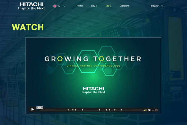 Make Events | Corporate and Virtual Events Company Manchester | Hitachi virtual conference