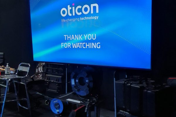 Make Events | Brand Management, Corporate and Virtual Events Company | Oticon wall screen