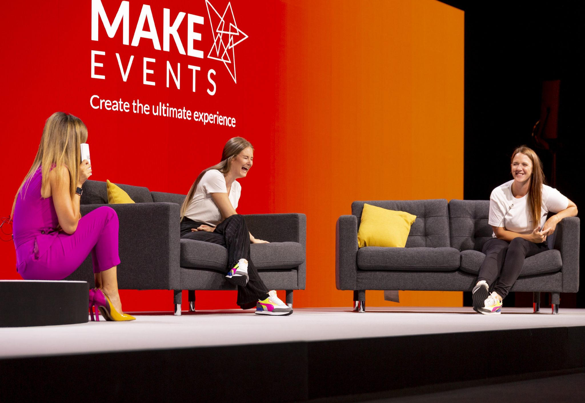 Make Events | Brand Management, Corporate and Virtual Events Company | Women on stage