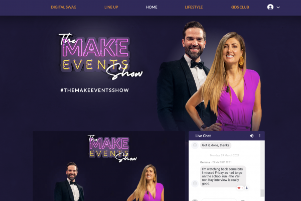 Make Events | Brand Management, Corporate and Virtual Events Company | Show screenshot